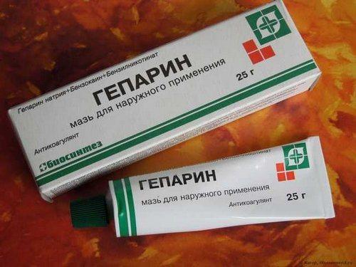 Гепариновая мазь на открытую рану можно