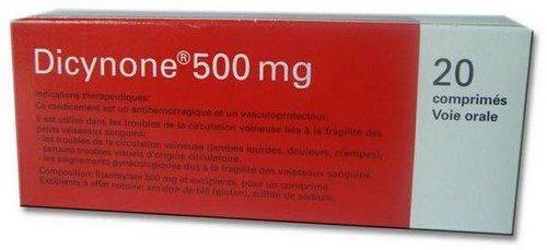 Дозировка дицинона в таблетках при маточных кровотечениях thumbnail