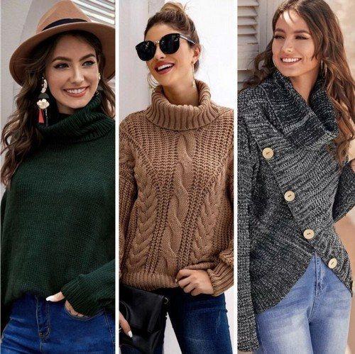 Вязаные кофты и свитера