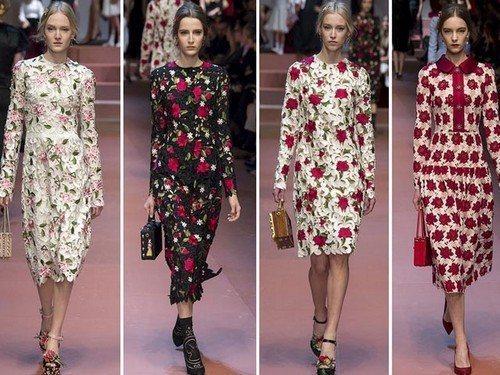 Модели модных платьев