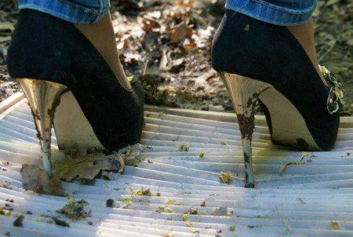 Грязь на обуви