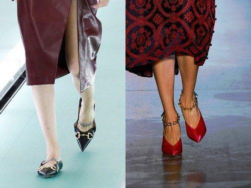 Цепочки на обуви