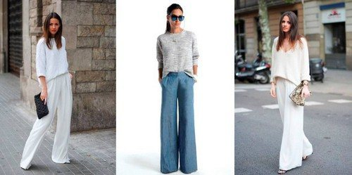 брюки с легким свитером
