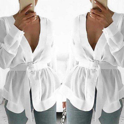 блузка с ремнем