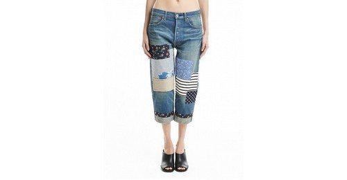 брюки с контрастными вставками