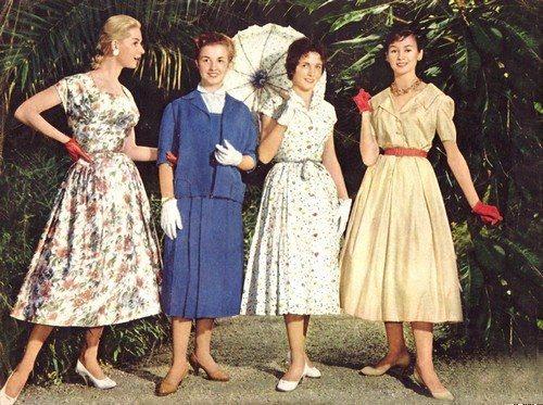 мода сороковых годов