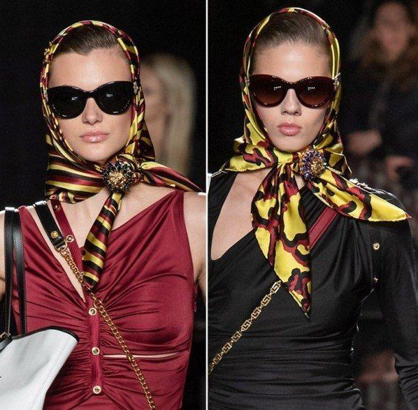 платок в стиле ретро