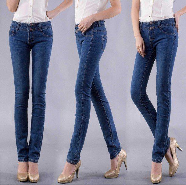 джинсы слим фит