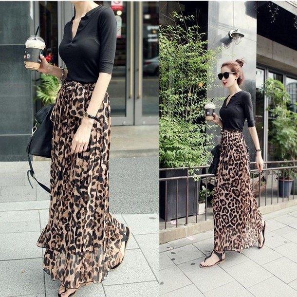 Леопардовые юбки