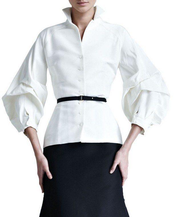 рубашка с рукавами-фонариками