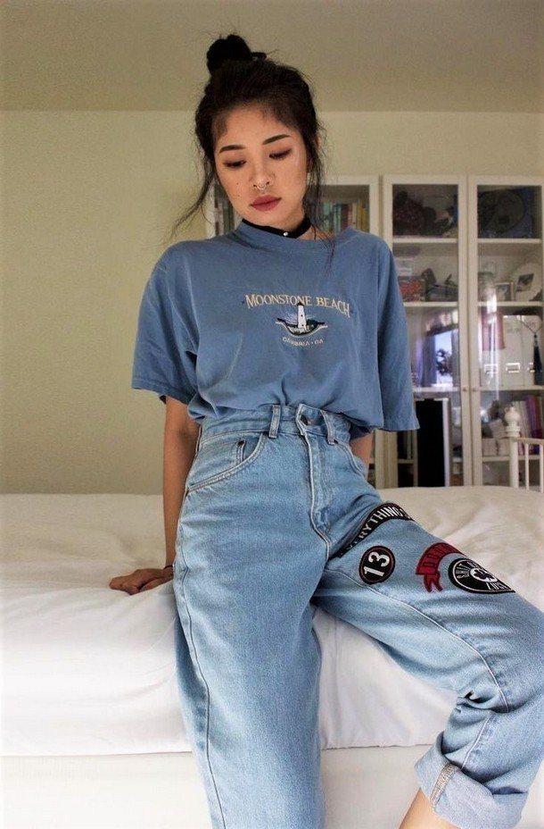 футболка в комплекте с джинсами